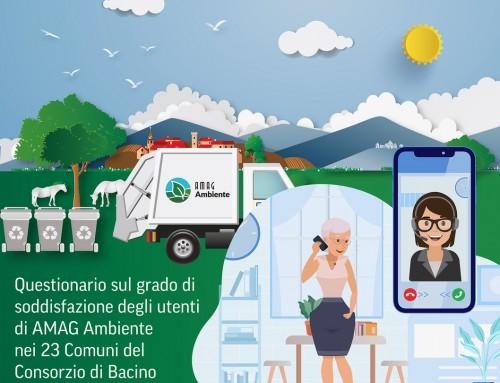 AMAG Ambiente: al via la misurazione della customer satisfaction tra i cittadini dei 23 Comuni aderenti al Consorzio di Bacino Alessandrino