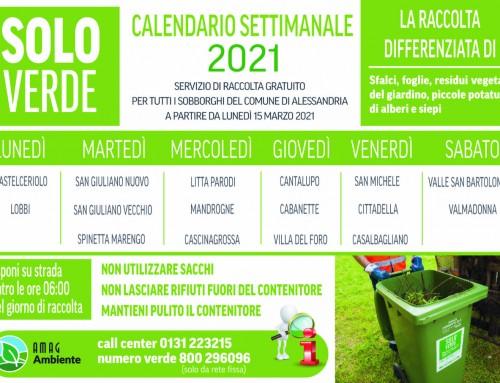 AMAG Ambiente: Raccolta gratuita del verde a domicilio nei sobborghi di Alessandria; si riparte lunedì 15 marzo