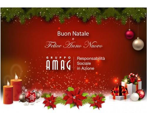 Buon Natale dal Gruppo Amag. Auguri di buon Natale e Felice Anno Nuovo